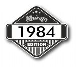VIntage Edition 1984 Classic Retro Cafe Racer Design External Vinyl Car Motorcyle Sticker 85x70mm